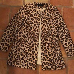 Zara leopard wool jacket